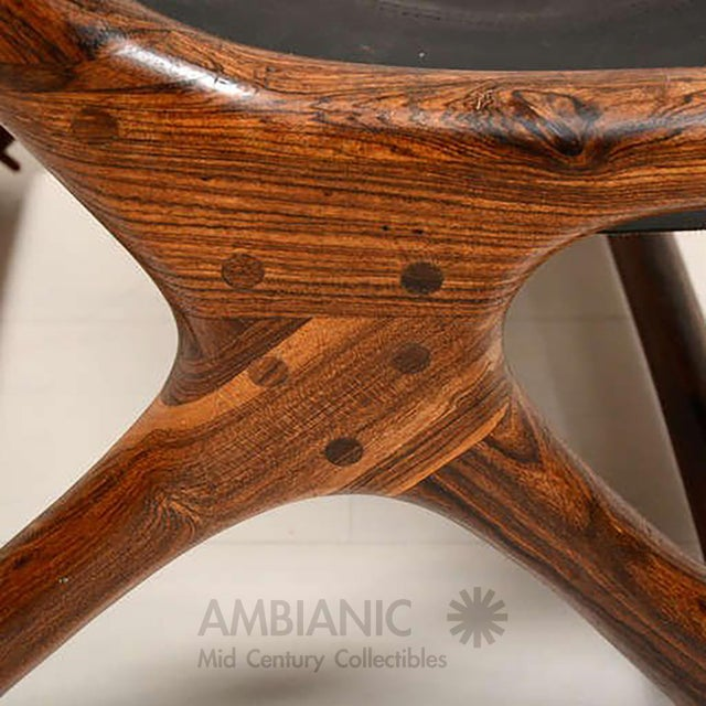 Mid Century Modern Don Shoemaker Sling Chair, Cocobolo & Leather For Sale In San Diego - Image 6 of 6