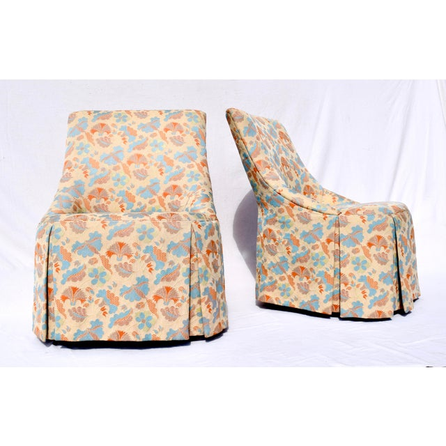 French Slipper Chairs by Grange France For Sale - Image 11 of 11
