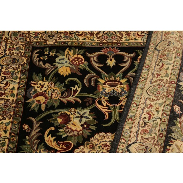 Textile Anarkali Pak-Persian Virgil Black/Ivory Wool Rug - 4'2 X 6'2 For Sale - Image 7 of 8