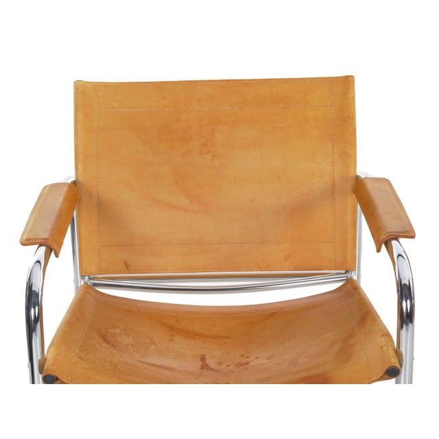 """Metal Circa 1970s Vintage Chrome and Leather """"Klint"""" Arm Chairs by Tord Bjorklund - a Pair For Sale - Image 7 of 13"""
