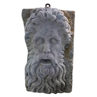 Early 20th Century Verona Marble Wall Mount Zeus Mask For Sale