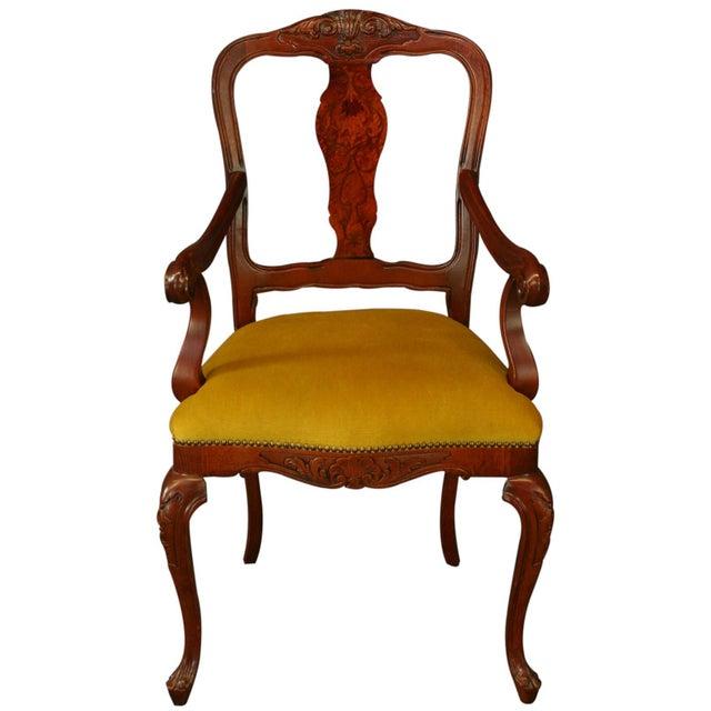New Italian Rococo Inlay Armchair - Image 2 of 8