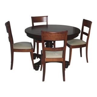 Pottery Barn Tivoli Tuscan Chestnut Pedestal Dining Set For Sale
