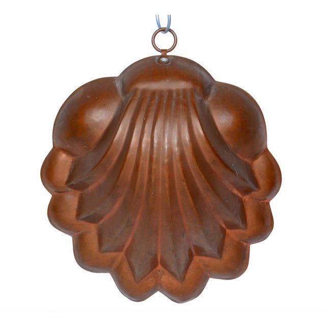 Nautical Copper Seashell Bunt Cake Wall Hanging For Sale - Image 3 of 5