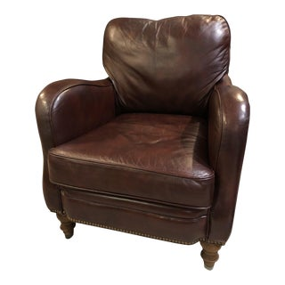 Sam Moore Leather Arm Chair For Sale