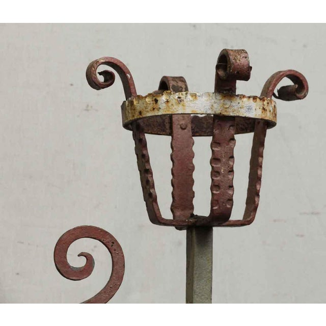 20th Century Traditional Wrought Iron Fire Place Screen For Sale - Image 4 of 10