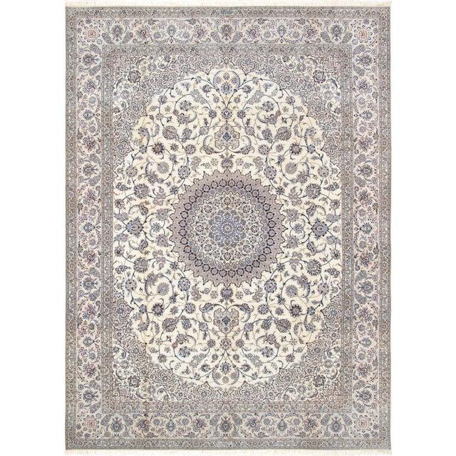 "Pasargad Persian Nain Silk & Wool Rug - 8' 8"" X 12' 1"" For Sale"