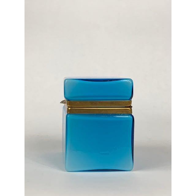 Turquoise Murano Casket Box