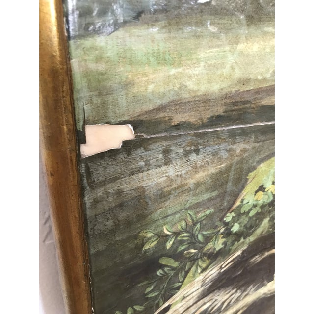 Verdigris Chinoiserie Decoupaged Wall Hanging For Sale - Image 8 of 13