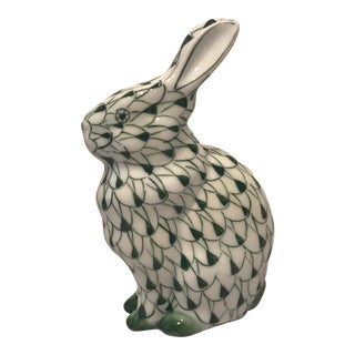 Herend-Style Rabbit Figurine