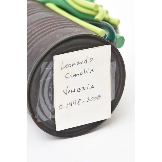 Leonardo Cimolin Italian Tin Can and Murano Glass Sculpture For Sale In Miami - Image 6 of 10