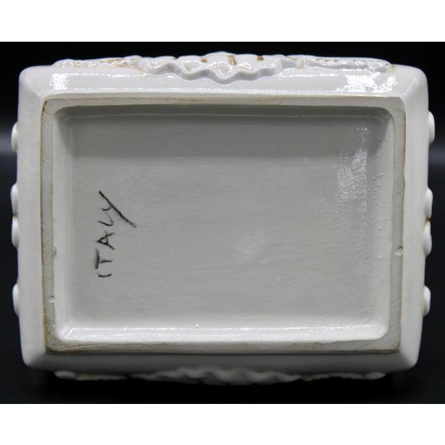 Off-white Italian Ceramic Fruit Lidded Box For Sale - Image 8 of 11