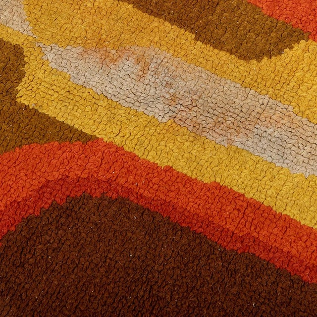 Here, I am offering a very rare Scandinavian Swedish rug with Geometric Art Deco Pattern. I spotted this beauty in an...