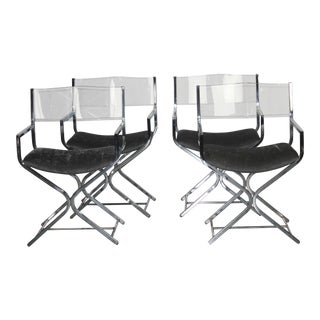 Milo Baughman Style Dining Chairs - Set of 4 For Sale