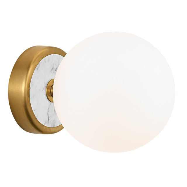 Lunar Brass Single Wall Light For Sale