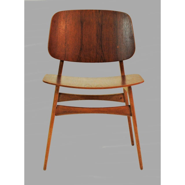 Danish Modern Mid Century Borge Mogensen Shell Chairs- A Pair For Sale - Image 3 of 8
