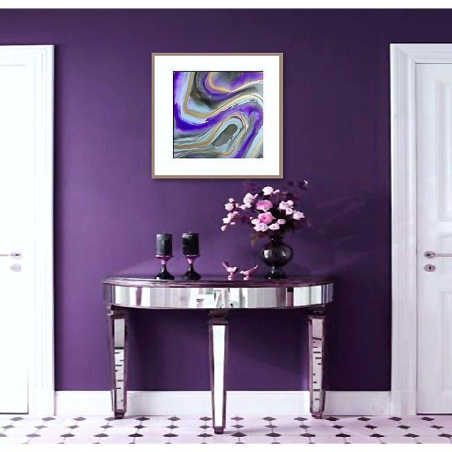 Abstract 'AMETHYST' Original Abstract Painting by Linnea Heide For Sale - Image 3 of 5