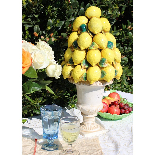 Tall Italian Lemon Topiary Majolica For Sale In Los Angeles - Image 6 of 7
