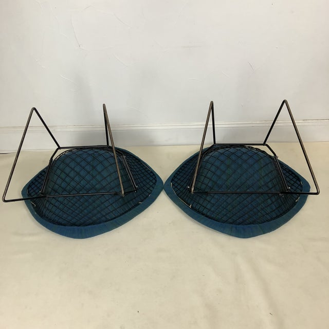 Metal Harry Bertoia Diamond Chair for Knoll / Girard Fabric -A Pair For Sale - Image 7 of 10
