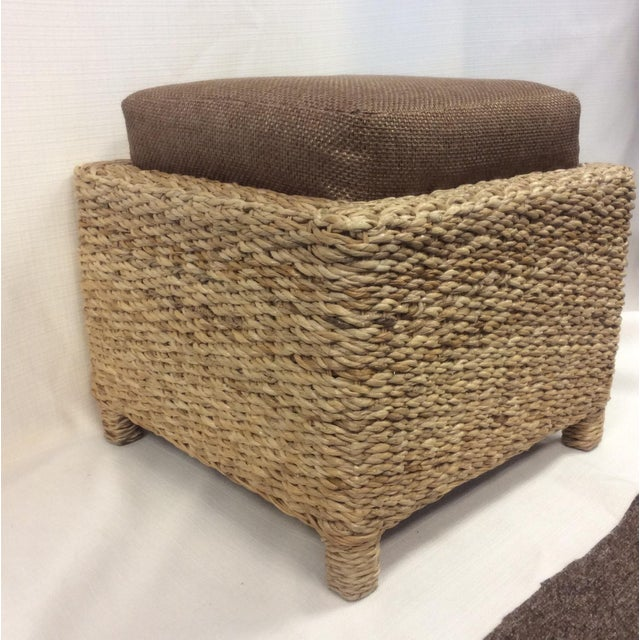Handmade Woven Stool Mimbre Brown - Image 5 of 9