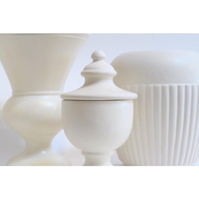 White Ceramic Vessels- Set of 4 - Image 4 of 5
