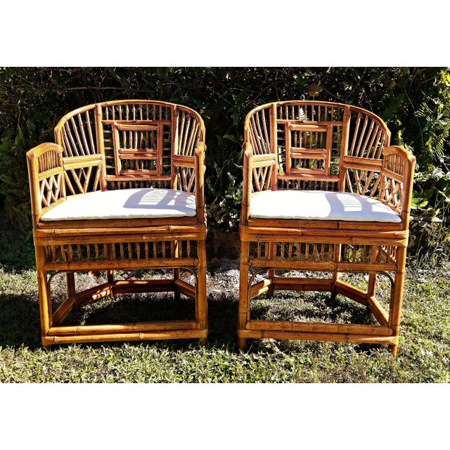 Vintage Mid Century Brighton Tiger Bamboo Chairs- A Pair For Sale - Image 13 of 13
