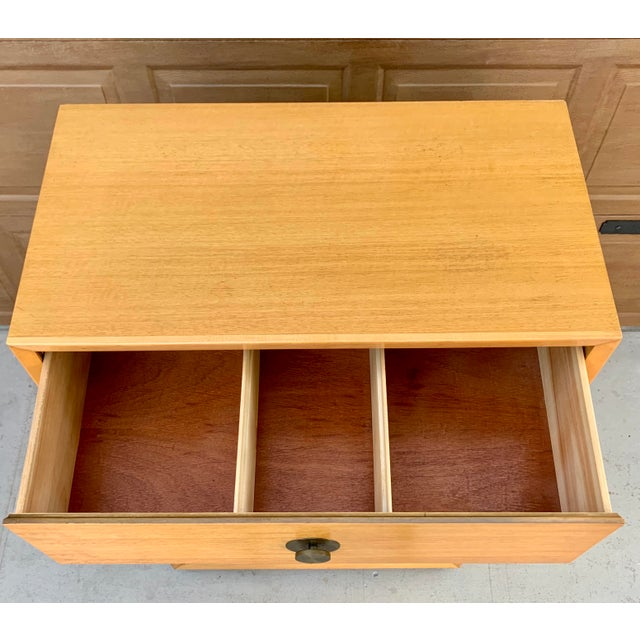 Saffron 1960's Vintage Thomasville Dresser and Nightstand - a Pair For Sale - Image 8 of 11