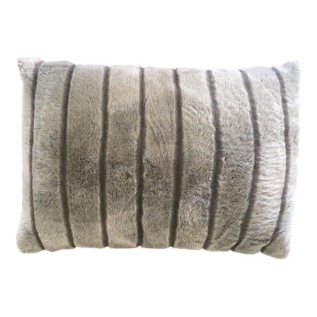 Pottery Barn Faux Fur Pillow Chairish