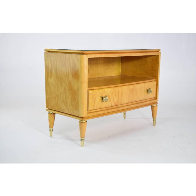 Mid 20th Century Italian Mid-Century Maple Wood Nightstands - a Pair For Sale - Image 6 of 13