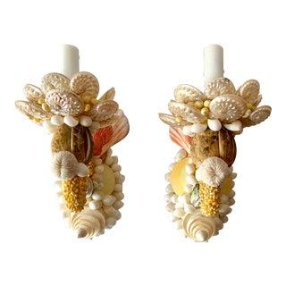 Single-Light Seashell Sconces - a Pair For Sale