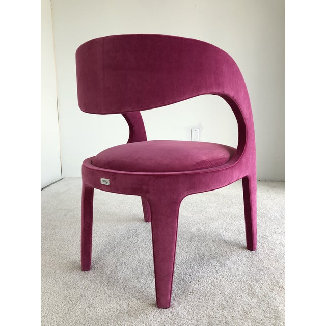 Textile Avant-Garde Berenice Fendi Chairs - a Pair For Sale - Image 7 of 9