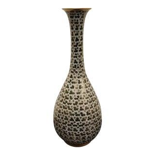 Early 20th Century Japanese Kutani Porcelain Gilded Mille Fleur Pattern Bottle Vase For Sale