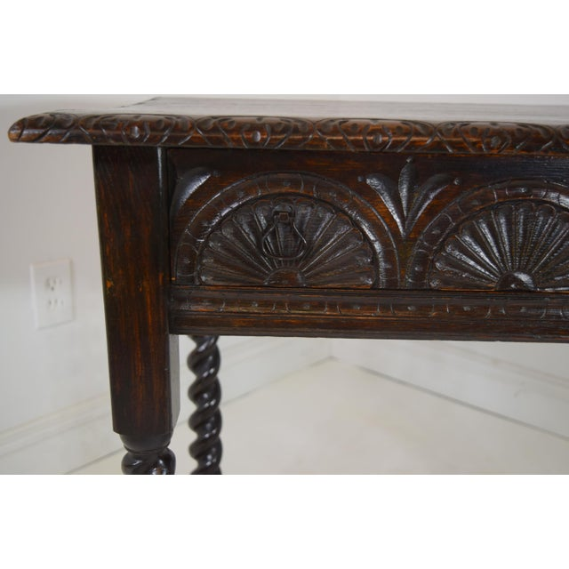English Early 19th-Century English Georgian Oak Stand For Sale - Image 3 of 8