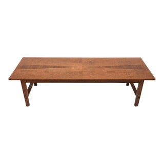 Modern Walnut John Stuart Janus Collection Long Board Coffee Cocktail Table For Sale