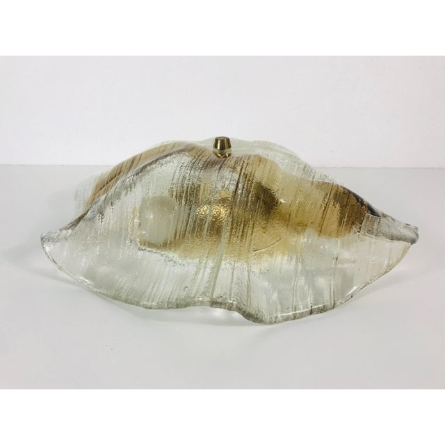 1960s Mid-Century Modern Murano Glass and Brass Flush Mount by Kalmar, Germany For Sale - Image 6 of 11