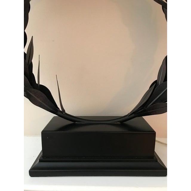 Green Laurel Wreath Lamp For Sale - Image 8 of 9