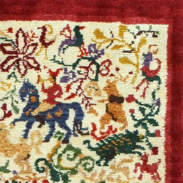 "Mid 20th Century Vintage Ecuadorian Animal Carpet - 3′10″ × 5′7"" For Sale - Image 5 of 7"