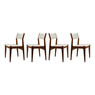 Mid-Century Danish Modern Leather & Teak Chairs - Set of 4 For Sale