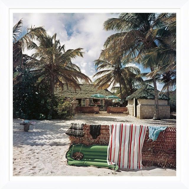 "Slim Aarons Slim Aarons, ""Antigua Beach Club,"" January 1, 1960 Getty Images Gallery Framed Art Print For Sale - Image 4 of 5"