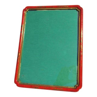 Chinese Red Enamel Photo Frame For Sale