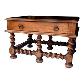 19th C. French Walnut Low Table For Sale