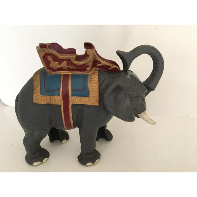 20th Century Americana Cast Iron Circus Elephant Bank For Sale - Image 10 of 13