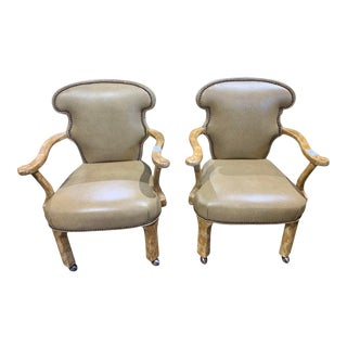 Century Furniture Brumbly Game Chair on Casters - a Pair For Sale
