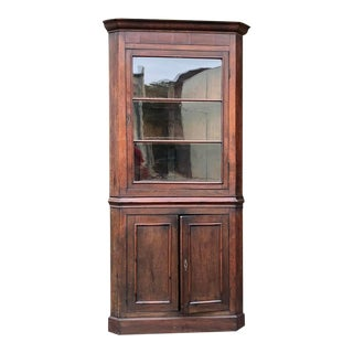 19th Century French Louis Philippe Corner Cabinet For Sale