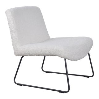 Vickie Accent Chair, White For Sale