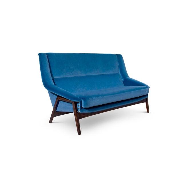 Mid-Century Modern Covet Paris Inca 2 Seat Sofa For Sale - Image 3 of 4