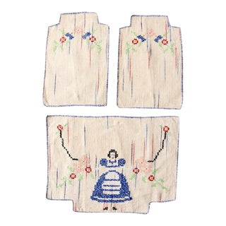 Vintage American Hand-Stitched Textiles - Set of 3