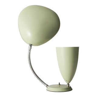 "Table lamp with one cone shade and one ""Cobra"" shade"