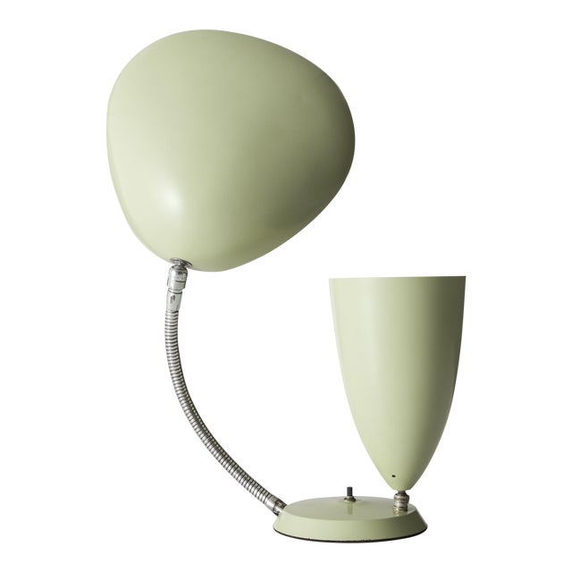 """Table lamp with one cone shade and one """"Cobra"""" shade For Sale"""