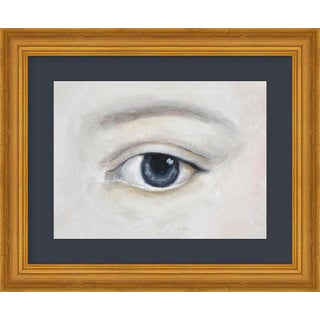 "Small ""Lover's Eye 5 With Navy"" Print by Susannah Carson, 12"" X 10"" For Sale"
